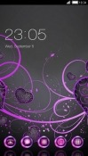 Purple Love CLauncher Android Mobile Phone Theme