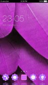 Purple Leaf CLauncher Android Mobile Phone Theme