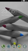 Color Pencils CLauncher Android Mobile Phone Theme