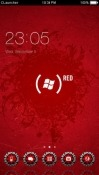 Windows Red CLauncher Android Mobile Phone Theme