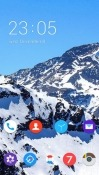 Mountain CLauncher Panasonic Eluga Ray Max Theme