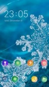 Snowflakes CLauncher Panasonic Eluga Ray Max Theme