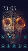 Skull Demon CLauncher Android Mobile Phone Theme