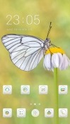 White Butterfly CLauncher Android Mobile Phone Theme