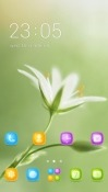 White Flower CLauncher ZTE Blade V9 Theme