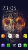 Digital Skull CLauncher Android Mobile Phone Theme