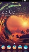 Wave CLauncher Motorola Moto Z3 Theme