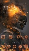Skull Fire CLauncher Android Mobile Phone Theme