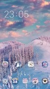 Snow CLauncher Android Mobile Phone Theme