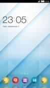 Blue CLauncher Android Mobile Phone Theme