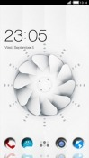 White Spinner CLauncher Android Mobile Phone Theme
