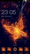 Flame Butterfly CLauncher Android Mobile Phone Theme