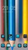 Blue Pencil CLauncher Android Mobile Phone Theme