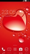 Red Heart CLauncher Android Mobile Phone Theme