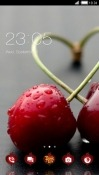 Red Cherry CLauncher Android Mobile Phone Theme