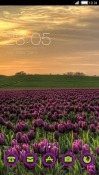 Purple Flowers CLauncher Realme 2 Theme