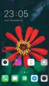 Red Flower CLauncher Android Mobile Phone Theme