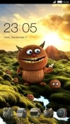 Cute Monster CLauncher Oppo A7 Theme