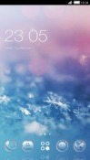 Snowflakes CLauncher Android Mobile Phone Theme