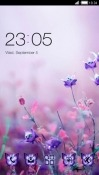 Purple Flowers CLauncher LG G Pad X 8.0 Theme
