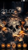 Fire Skull CLauncher Samsung Galaxy A8s Theme