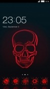 Red Skull CLauncher Samsung Galaxy A8s Theme