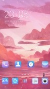Pink Sky CLauncher RED Hydrogen One Theme