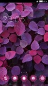 Purple Leaves CLauncher Realme 2 Theme