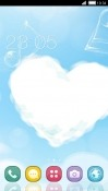 Cloud Heart CLauncher Alcatel X1 Theme