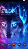 Neon Wolf CLauncher Android Mobile Phone Theme