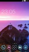 Purple Mountain CLauncher Android Mobile Phone Theme