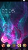 Neon Smoke CLauncher Samsung Galaxy A20 Theme