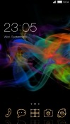 Abstract Smoke CLauncher Prestigio MultiPhone 5400 Duo Theme