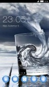 Storm In Glass CLauncher Samsung Galaxy S8 Active Theme