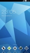 Blue Crystal CLauncher Android Mobile Phone Theme