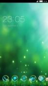 Green CLauncher Samsung Galaxy A8s Theme