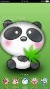 Cute Panda CLauncher RED Hydrogen One Theme