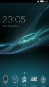 Blue CLauncher LG X screen Theme
