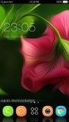 Pink Flower CLauncher RED Hydrogen One Theme
