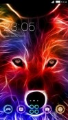 Wolf CLauncher RED Hydrogen One Theme