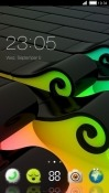 Abstract CLauncher LG Optimus F6 Theme