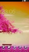 Pink Tree CLauncher Sony Xperia 5 Theme