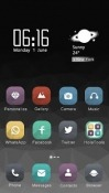 Grey Hola Launcher Android Mobile Phone Theme