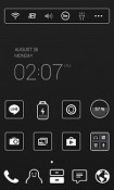 Black Label Dodol Launcher Sharp Aquos S3 mini Theme