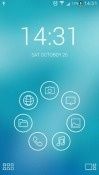 Light Lines Smart Launcher BLU View 1 Theme