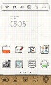 Drawing Note Dodol Launcher Sharp Aquos S3 mini Theme