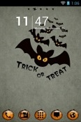Halloween Bats Go Launcher Android Mobile Phone Theme