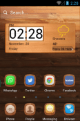 A Wooden Finish Hola Launcher Android Mobile Phone Theme