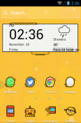 Crazy Yellow Hola Launcher Android Mobile Phone Theme