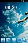 Blue Nature Go Launcher QMobile X2 Lite Theme